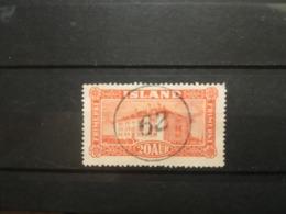 FRANCOBOLLI STAMPS ISLANDA ISLAND 1925 USED PAESAGGI LANDSCAPES OBLITERE' ICELAND - 1918-1944 Amministrazione Autonoma