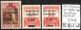 D - [842072]TB//*/Mh-Ruanda-Urundi 1941 - N° 119/20-VAR, Surcharge Déplacée - 1924-44: Neufs