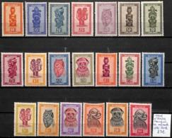 D - [842093]TB//**/Mnh-c:110e-Ruanda-Urundi 1948 - N° 154/72, Série Complète, Masques - 1924-44: Neufs