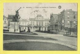 * Antwerpen - Anvers - Antwerp * (G. Hermans, Nr 43) Square Et Institut De Commerce, Statue, Monument, Animée, Rare - Antwerpen