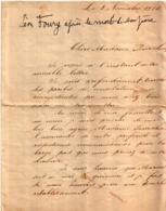 Lettre De Poilu Témoignage De Tranchée Datée De 1914 - Documents