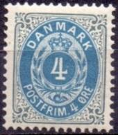 DENEMARKEN 1875-1905 4öre Klein Ovaal Tanding 12¾ PF-MNH - Nuovi