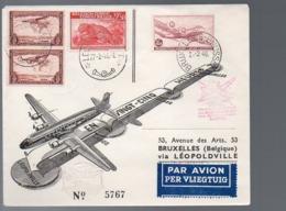 CONGO - FFC 1946 LETTRE AVION   - UN3 - Congo Belge