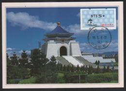 Taiwan (Formosa)- Maximum Card –Chiang Kai- Shek Memorial Hall - ATM - Frama (labels)