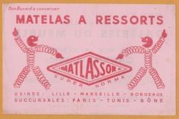 BUVARD Illustré - BLOTTING PAPER - MATLASSOR - Matelas à Ressorts - Galeries Du Meuble CARPENTIER DUCOURANT Carvin - M
