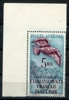 RC 14572 INDE FR PA N° 20 - 5 Ro POSTE AERIENNE OISEAU COIN DE FEUILLE COTE 30€ NEUF ** MNH - Unused Stamps