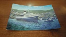 Cartolina: Genova La Nave Leonardo Da Vinci Viaggiata (a43) - Postkaarten