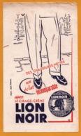 BUVARD Illustré - BLOTTING PAPER - LION NOIR - Cirage Crème - Chaussures - Shoes
