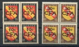 RC 14574 REUNION CFA N° 281 + 283 BLASONS ALSACE + LORRAINE EN BLOC DE 4 NEUF ** MNH TB - Unused Stamps