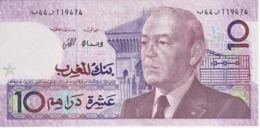 BILLETE DE MARRUECOS DE 10 DIRHAMS  AÑO 1987 CALIDAD EBC (XF) (BANKNOTE) - Marokko