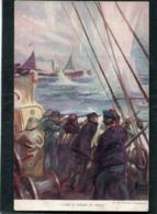 CPA - Marine - Illustration Fouqueray - Dans Le Champ De Mines - Guerra
