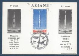 France - Carte Maximum - Ariane - Salon International De L'aéronautique Et De L'espace - Le Bourget - 1979 - Cartas Máxima