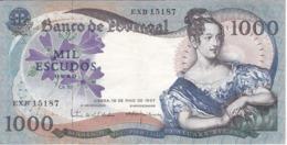 BILLETE DE PORTUGAL DE 1000 ESCUDOS DE 19 DE MAIO DEL AÑO 1967 SERIE EXB (BANKNOTE-BANK NOTE) - Portugal