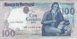 BILLETE DE PORTUGAL DE 100 ESCUDOS DEL 12 MARÇO 1985 DIFERENTES FIRMAS (BANKNOTE) - Portugal
