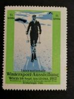 Wien Austria 1912 International Wintersport  Esperanto  CINDERELLA - Wintersport (Sonstige)