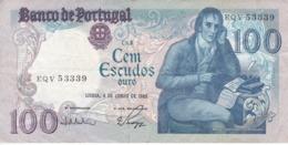 BILLETE DE PORTUGAL DE 100 ESCUDOS DEL 4 JUNHO 1985 DIFERENTES FIRMAS (BANKNOTE) - Portugal