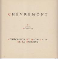 Encart Souvenir 1948 Basilique De Chèvremont COB 777 / 780 Pas Courant - Feuillets
