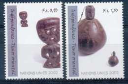 [64660]SUP//**/Mnh-c:4e-N° 451/52, Indépendance, Timor Oriental, Statuette D'homme, Récipient à Chaux Avec Bouchon En Fo - Office De Genève