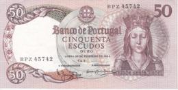 BILLETE DE PORTUGAL DE 50 ESCUDOS DEL AÑO 1964 SERIE BPZ EN CALIDAD EBC (XF)   (BANK NOTE) - Portugal