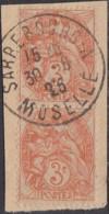 France - Moselle - Sarrebourg A Sur N° 109 (YT). Oblitération De 1925. - Marcofilia (Sellos Separados)