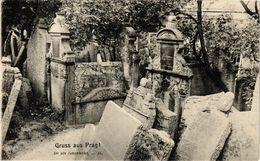 PC JUDAICA Gruss Aus Prag! - Der Alte Judenfriedhof (a1189) - Jodendom