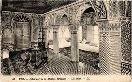 PC JUDAICA Fez - Intérieur De La Maison Israelite - Un Salon (a1192) - Jodendom