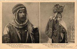 PC JUDAICA Shaik Of The Beduins Of Palmyra - Woman Of Betlehem Selling (a1194) - Jodendom