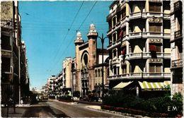 PC JUDAICA SYNAGOGUE Oran - Le Boulevard Joffre Et La Synagogue (a1237) - Jodendom