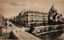 PC JUDAICA SYNAGOGUE Straßburg I. E. Kleberstaden Und Synagoge (a1249) - Jodendom