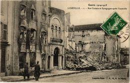 PC JUDAICA SYNAGOGUE Lunéville Rue Castara Et Synagogue Aprés L'incendie (a1252) - Jodendom