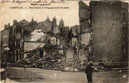 PC JUDAICA SYNAGOGUE Lunéville Rue Castara Et Synagogue Aprés L'incendie (a1253) - Jodendom