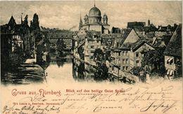 PC JUDAICA SYNAGOGUE Gruss Aus Nürnberg - Blick Auf Das Heilige Geist (a1260) - Jodendom