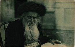 PC JUDAICA JEWISH TYPES An Original Type Of A Rabbi (a1289) - Jodendom