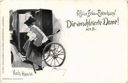 PC JUDAICA DREYFUS AFFAIR Affaire Zola-Esterhazy Die Verschleierte Dame! (a1296) - Jodendom