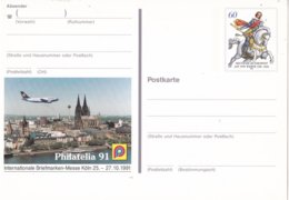 """Duitsland - 10 Oktober 1991 - Sonderpostkarte - Internationale Briefmarken-Messe PHILATELIA """"91, Köln - M Pso 25 - [7] West-Duitsland"""
