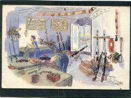 CPA - Illustration - L'ARMURIER Est Chargé De L'entretien Des Canons Et Des Armes Légères - Krieg