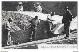 SAINT-ETIENNE En COGLES   Bancs De Granit  Perforation Pneumatique   (recto-verso) - Frankreich