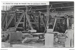 SAINT-ETIENNE En COGLES   Atelier De Sciage Du Granit   (recto-verso) - Frankreich