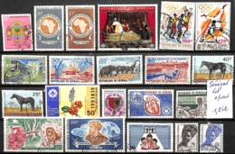[830421]TB//O/Used-Sénégal  - Lot Obl/Used, Jeux Olympiques, Sports, Animaux, Fleurs, Personnalitées - Sénégal (1960-...)