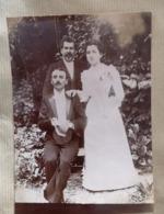 Photographie Ancienne Mariage Maurice CHABERT Et Fernande  Photo Famille 10x15 - Personnes Identifiées