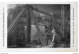 Saint Etienne En Coglés Usines     Atelier De Sciage Du Granit  Grosse Armure   (recto Verso) - Frankreich
