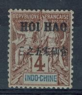 "Hoï-Hao, Haikou (French China), 4c. ""Groupe"", Overprint ""HOI-HAO"" In Black, 1903, MH F - Hoi-Hao (1900-1922)"