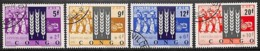 [812059]TB//O/Used-c:3e-RD CONGO 1963 - N° 477/80, Campagne Contre La Faim, SC, Agriculture, Tracteur - Against Starve