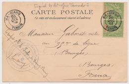 CARTE 5C PAIRE HA-GIANG TONKIN POSTE DE DUONG THUONG LE COMMANDANT INDOCHINA - Indochine (1889-1945)