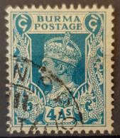 BURMA 1938 - Canceled - Sc# 28 - 4A - Burma (...-1947)