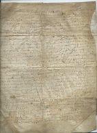 GRAND PARCHEMIN DE 4 PAGES 1642 - Algemene Zegels