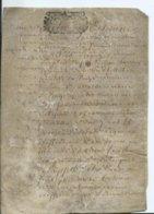 CACHET DE GENERALITE DE TOURS SUR PARCHEMIN - -4 PAGES  1726 - Algemene Zegels