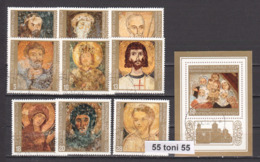 1973 Art ICONS - Boyana Church (Mi-2267/75+Bl.44)  9v.+S/S – Used/oblitere (O) Bulgaria / Bulgarie - Arte
