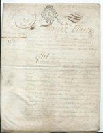 CACHET DE GENERALITE DE TOURS SUR PARCHEMIN - -4 PAGES  1778 - Cachets Généralité