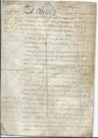 CACHET DE GENERALITE DE TOURS SUR PARCHEMIN - -4 PAGES  1779 - Algemene Zegels